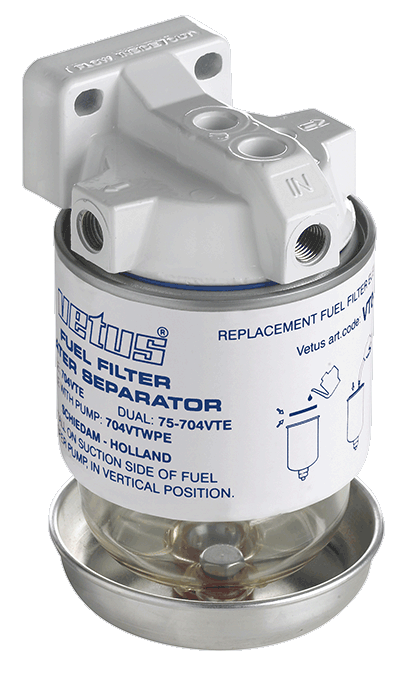 Vetus Water Separator Fuel Filter CE/ABYC Max 140Hp