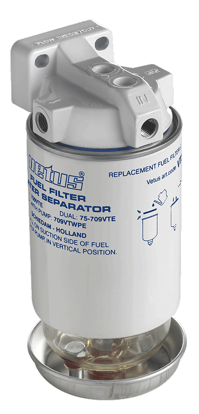 Vetus Water Separator Fuel Filter CE/ABYC Max 280Hp