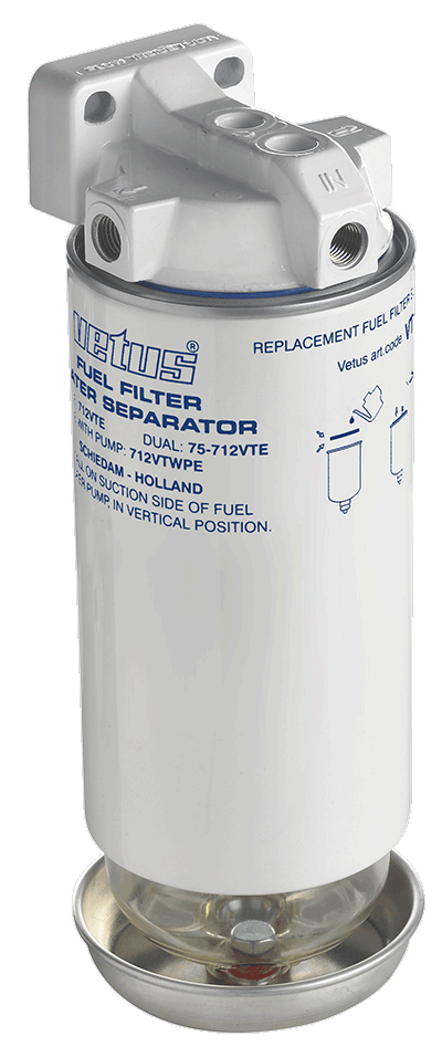 Vetus Water Separator Fuel Filter CE/ABYC Max 450Hp