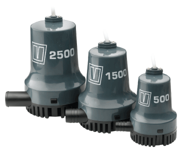 Vetus V500 Submersible Bilge Pump 12v 1900 L/hr