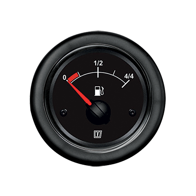 Vetus Fuel Gauge Black 12V cut-out Ø52mm