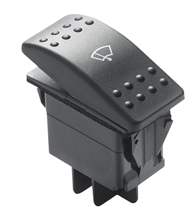 Vetus Three Position Wiper Switch - Rocker
