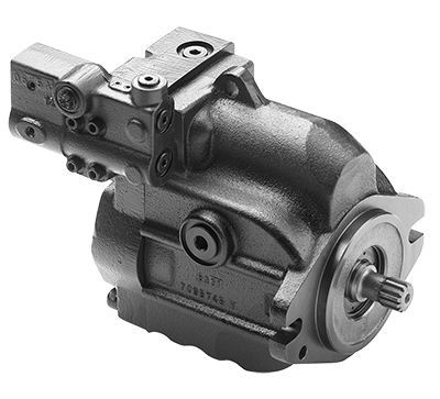 Variably adjustable piston pump 45cc left handed SAE-B flang