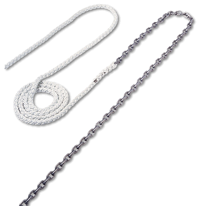 Maxwell 10m x 6mm Anchor chain to 100m x 12mm 8 plait rope