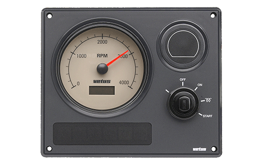 Engine panel type MP21 12 Volt with cream instruments