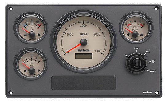 Engine panel type MP34 12 Volt with cream instruments