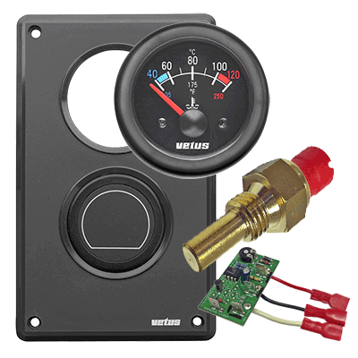 Vetus M-Series Engine Coolant Temperature Gauge Kit