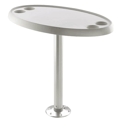 Vetus Oval Table 76x45cm with Pedestal & Base Plate - Height 68cm