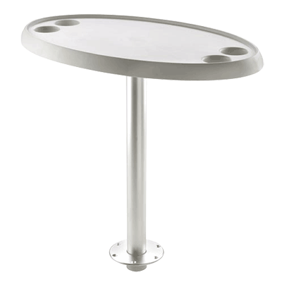 Vetus Oval Table 76x45cm - Quick Remove Pedestal & Base Plate - 68cm