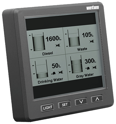 Vetus Display for Tank Level Indication