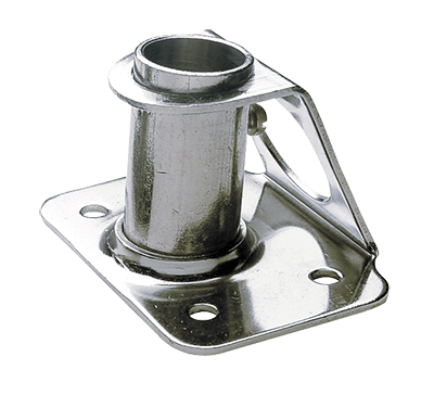 Stanchion socket angled 6°