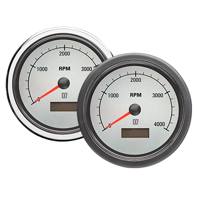 White Dial Engine Instruments