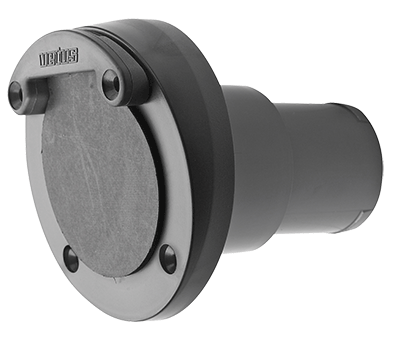Vetus Plastic Transom Exhaust Connection with Check Valve 60