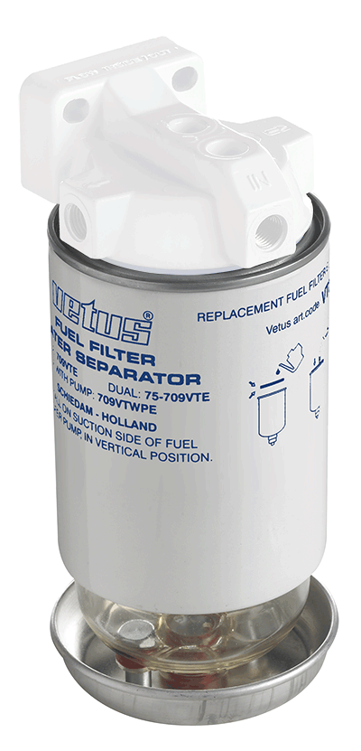 Fuel filter element 10 micron max 280 HP (380 l/h)