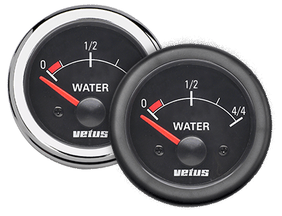 Vetus Water Level Indicator Black 12/24v cut-out 52mm