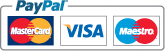 We accept Mastercard, Visa, Maestro and PayPal payments
